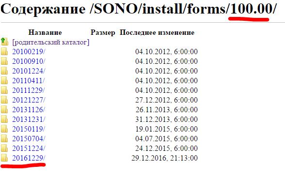 Формы СОНО