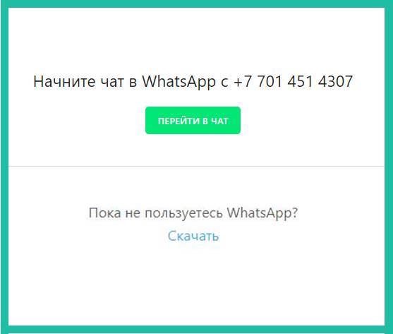 Чат WhatsApp
